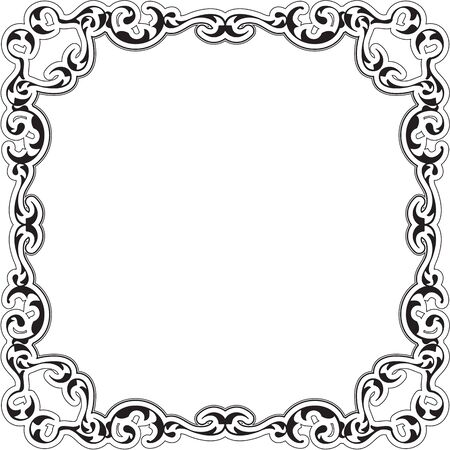 renaissance art: Art ornate renaissance frame isolatred on white Illustration