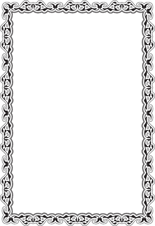 Retro vintage frame isolated on white Stock Vector - 52421496