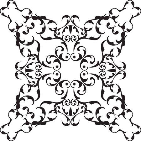 renaissance: Art renaissance nice rosette isolated on white