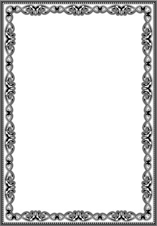 admirable: Admirable baroque art frame isolated on white