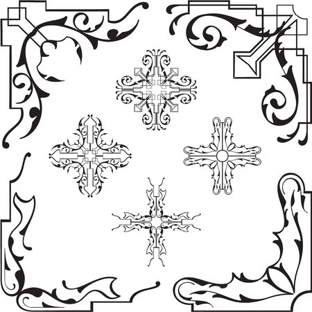 marvelous: The marvelous vintage corner set is on white