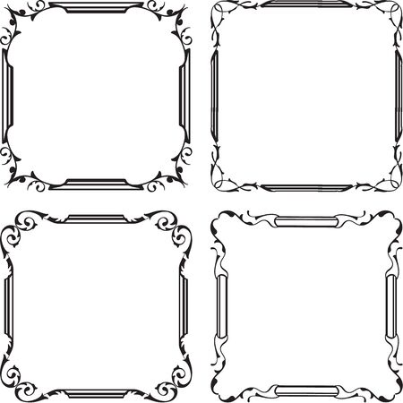 squiggle: Vintage great frame set is on white