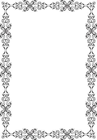 adornment: Adornment decor art frame isolated on white