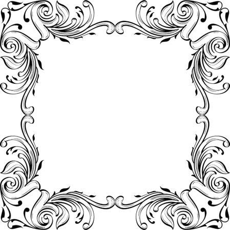 fine art: Baroque fine art page is on white Illustration