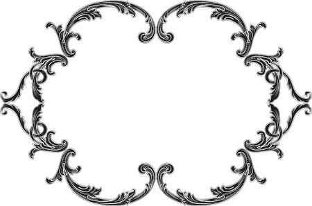 Ornate decor swirl page on white