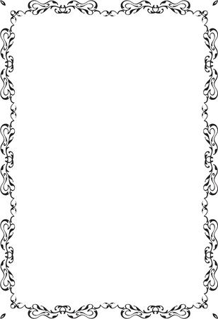 fine art: Decor fine art page isolated on white Illustration