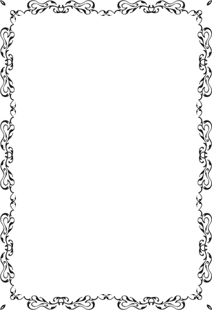 Decor fine art page isolated on white Illustration