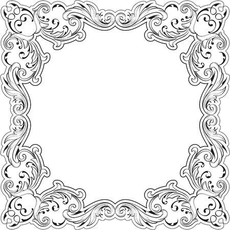 fine art: Decor fine art border on white