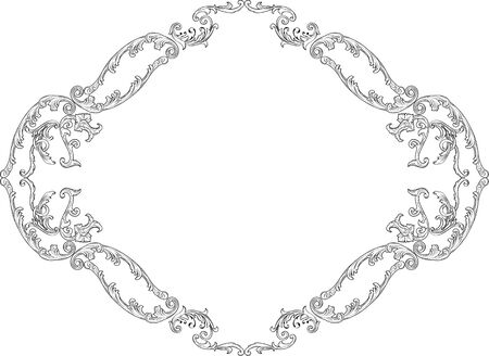 squiggle: Luxury baroque decor page on white