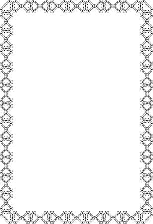 fine art: Decor fine art swirl luxury page on white Illustration