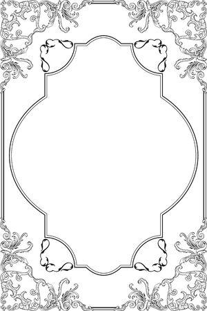 fine art: The baroque fine art ornate frame on white