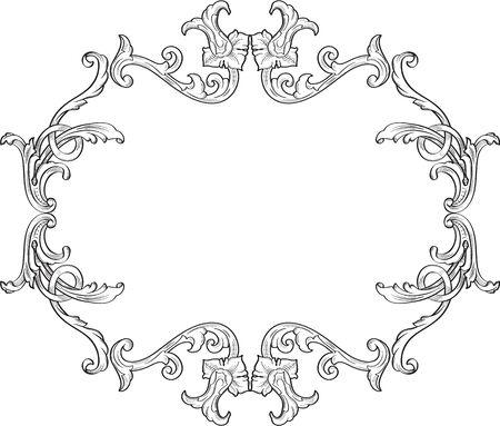 swirl: Ornate decor swirl frame on white