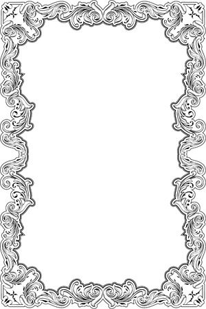 fine art: The baroque greeting fine art page on white