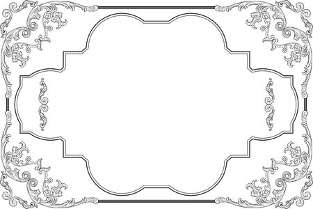 fine art: The baroque style fine art page on white