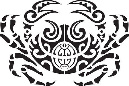 Maori Krabben isoliert auf weiß Vektorgrafik
