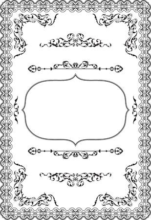 Nice baroque art frame on white