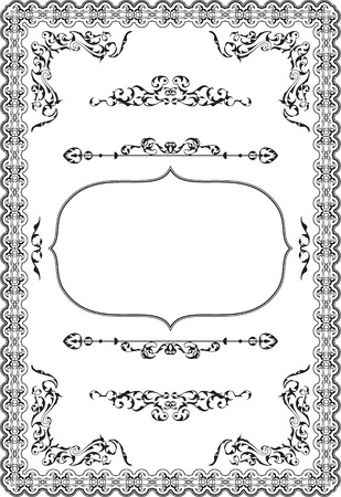 Nice baroque art frame on white