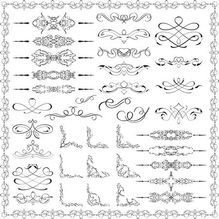 Ornate splendid design elements is on white