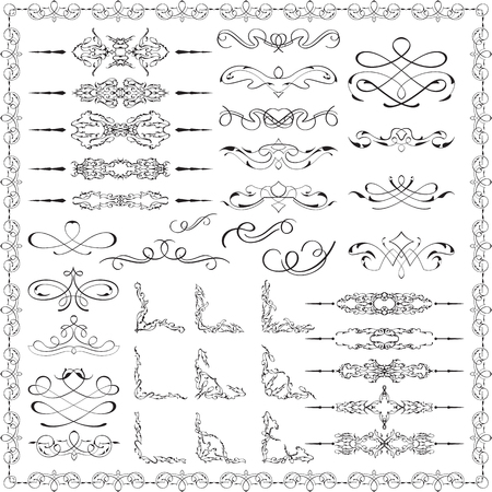 Ornate splendid design elements is on white
