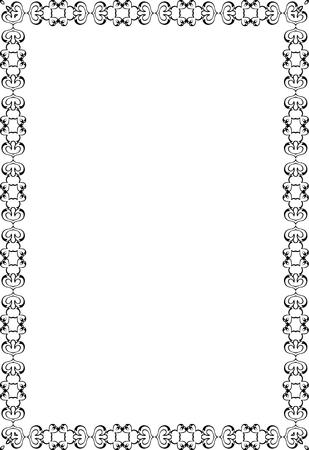 Decor fine art swirl page on white