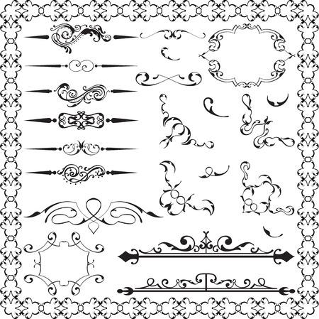 Ornate fine set is on white