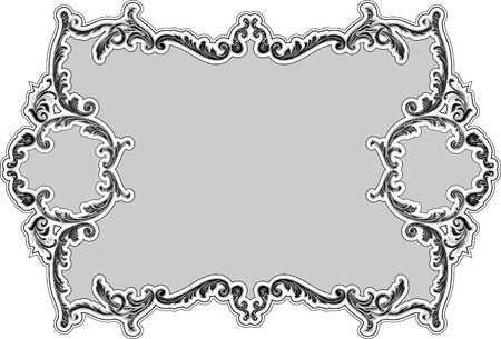 The decor ornate luxury swirl frame on grey