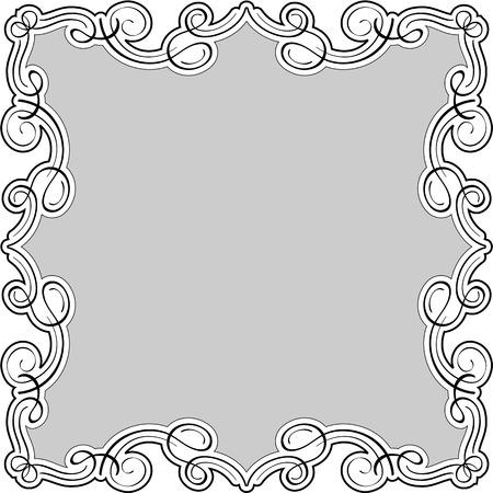 Luxury swirll art frame is on white