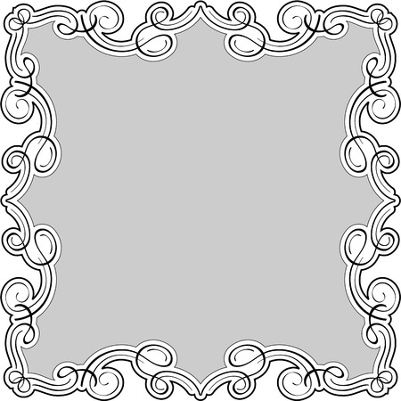 Luxury swirll art frame is on white