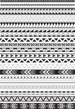 Maori-borstels in wit