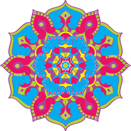 coordinated: West style mandala in color isolated on white