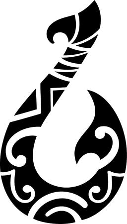 タトゥーのマオリ スタイル フック