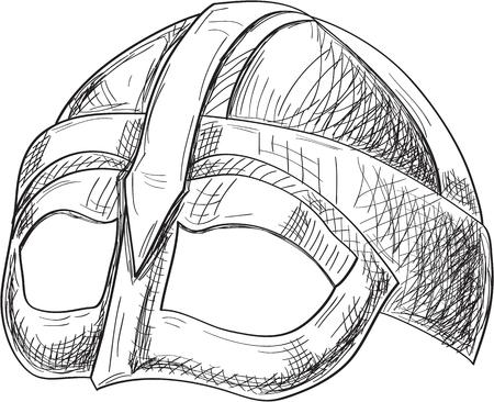scandinavia: Side viking helmet engraving style