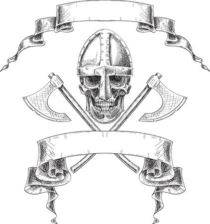 Viking heraldry isolated on white