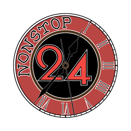 247 nonstop time icon