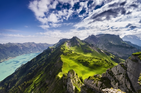 Dramatic view from Schynige Platte, Switzerland photo