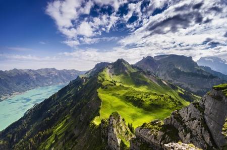 swiss alps: Dramatyczny widok z Schynige Platte, Szwajcaria