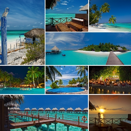 Maldives Collage Standard-Bild - 15077148