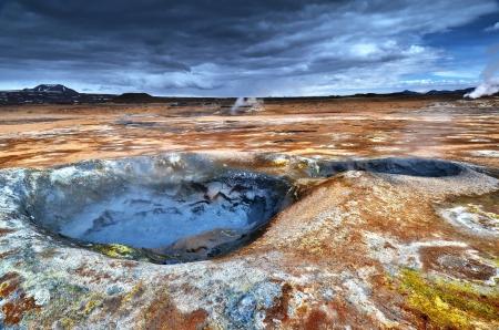 Hverir, Iceland Standard-Bild