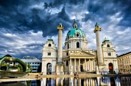 St  Charles Church, Vienna Reklamní fotografie