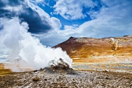 Steam Vent am Hverir, Island Standard-Bild - 15454606