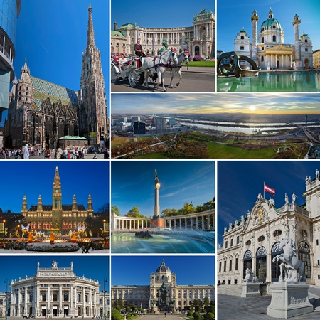 Vienna Collage Standard-Bild - 15454608