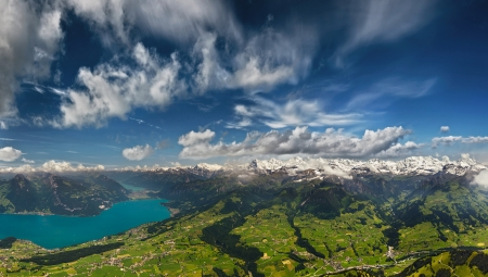 berner: Aerial Panorama of Swiss Alps