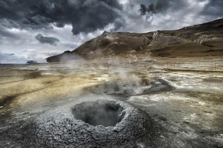 Vulkanismus in Island Standard-Bild - 21865710