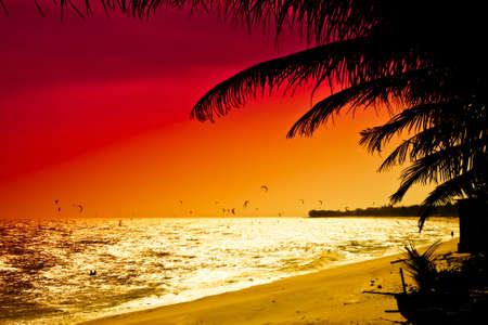 ne: Red sunset in Mui Ne