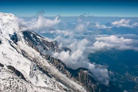 Chamonix white peaks