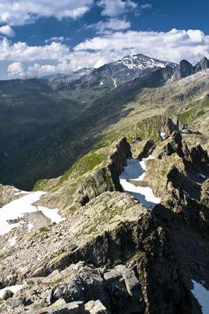 Chamonix  peaks in sunny day