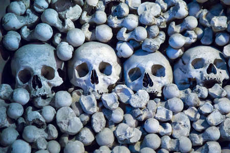 Human skulls and bones in Sedlec Ossuary, Kutna Hora, Czech Republic photo