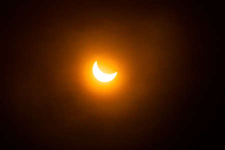 partial solar eclipse Stock Photo