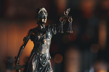 The Statue of Justice symbol, legal law concept Stock Photo