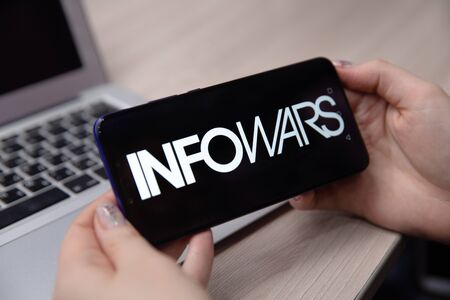 Tula, Russia - November 28, 2018:Homepage of the InfoWars